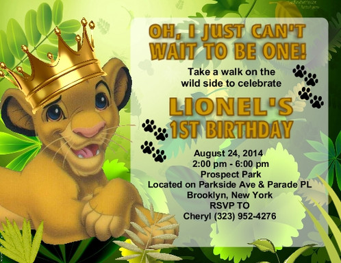Lion king crown birthday party invitations filmwisefo