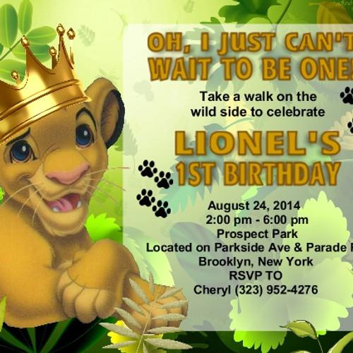 Boys Birthday Parties EventsUnique Invitations by Cheryl – Lion Birthday Invitations
