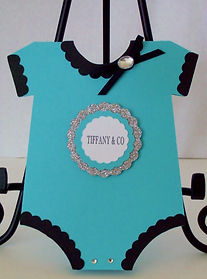 Tiffany Onesie Shower Invitation