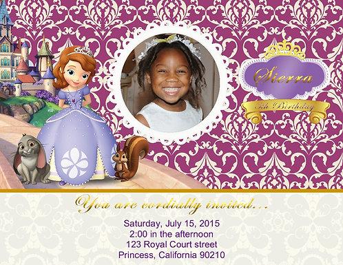 #2 Princess Sophia Birthday Party Invitation