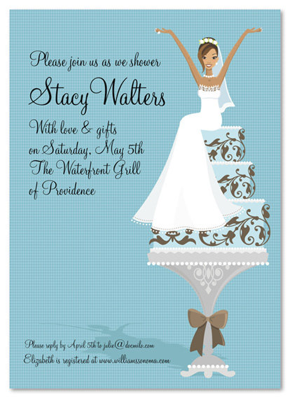 Cake Lady African American Bridal Shower and  Event Invitation