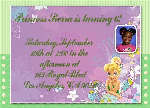 Tinkerbell Birthday Party Invitation