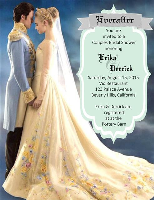 New Cinderella  Bridal Shower and  Event Invitation