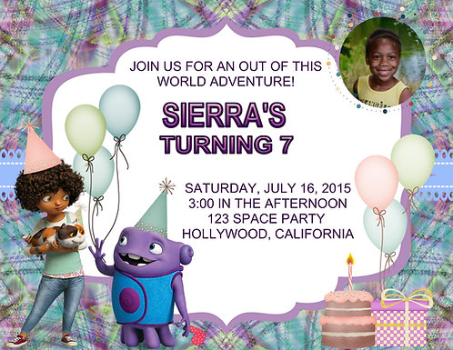 Home Birthday Party Invitations