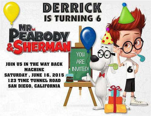 Peabody and Sherman Birthday Party Invitation
