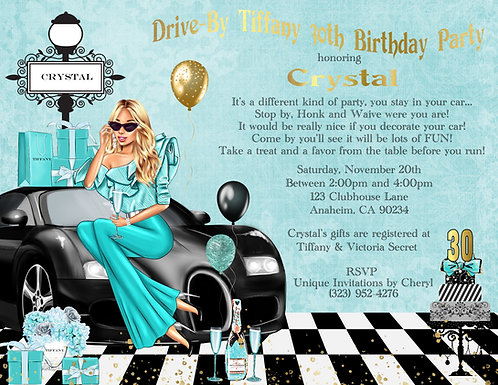 Tiffany Drive-By Invitation (sold in sets of 10)