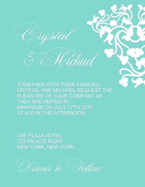 Tiffany White Wedding / Event Invitation