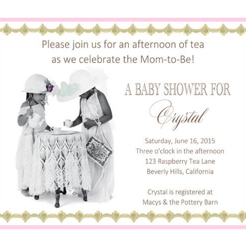 Baby Shower Invitations EventsUnique Invitations by Cheryl – Tea Party Baby Shower Invites