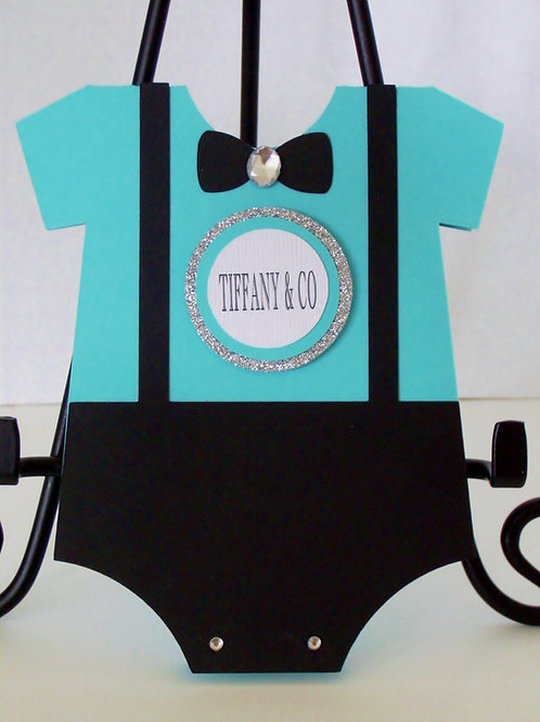 Tiffany Boy Onesie Invitation