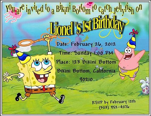 #1 Spongebob Birthday Party Invitation