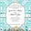Thumbnail: Seaside Tiffany Damask Wedding / Event Invitation