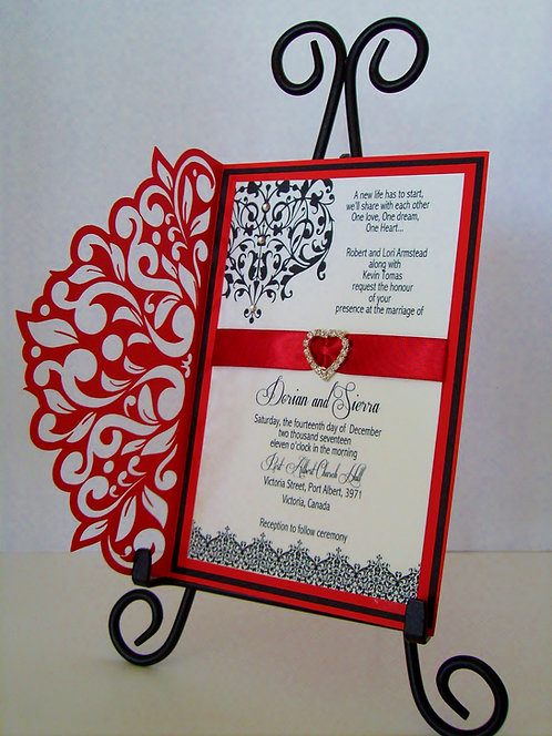 Ravishing Red Wedding and Event Invitation