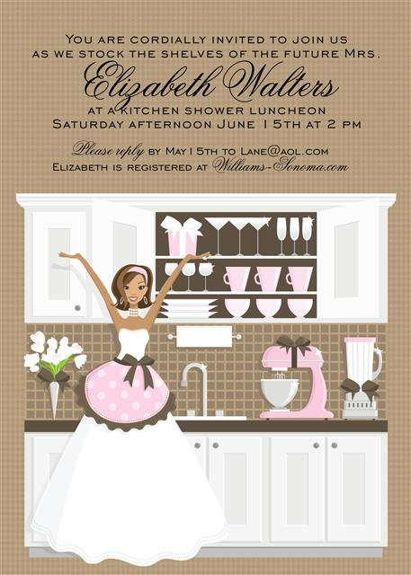 African American Kitchen Bridal Shower Bridal Shower and  Event Invitation