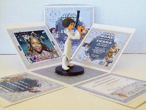 Princess Leia Custom Exploding Box Event Invitation
