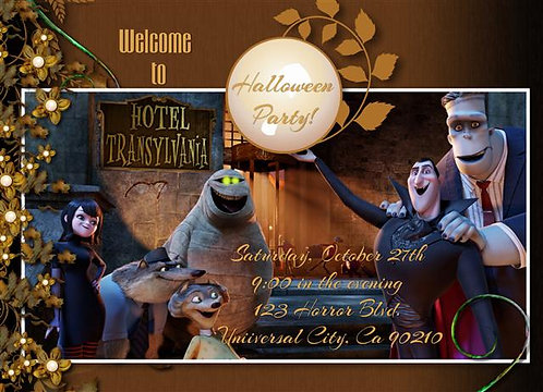 Welcome to Hotel Transylvania Halloween Party and  Event Invitation