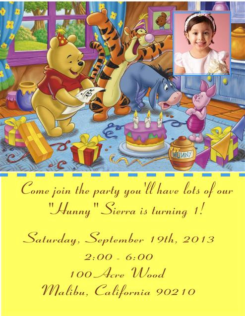 #2 Winnie the Pooh Birthday Party Invitation