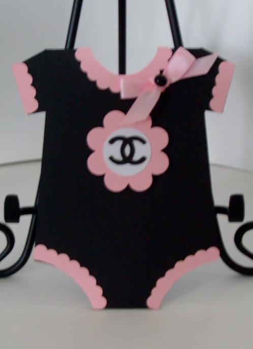 Chanel Pink Onesie Invitation