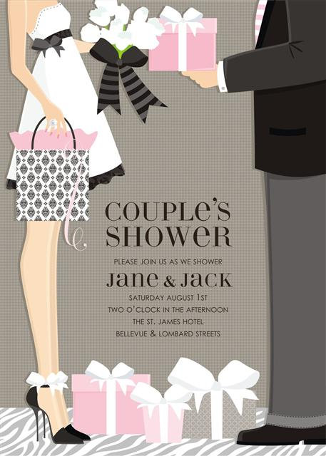 Presents Couples Bridal Shower and  Event Invitation