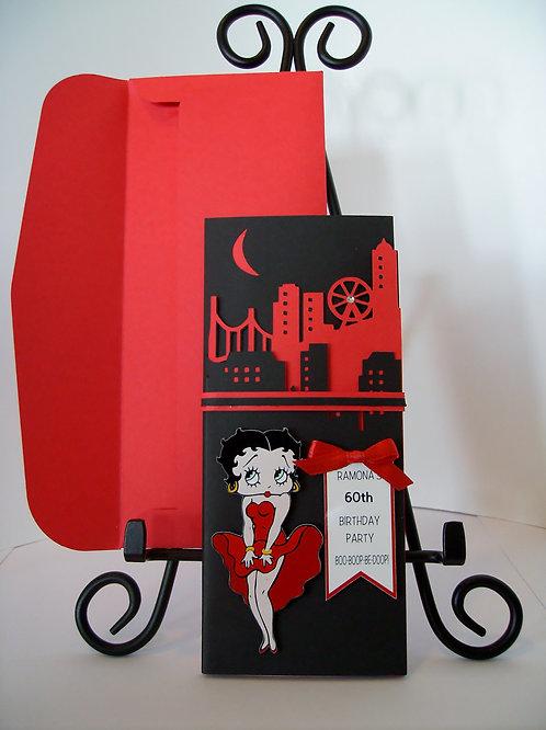 Betty Boop Nite Life Birthday Invitation