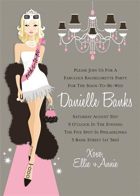 Blonde Bachelorette Bridal Shower and  Event Invitation