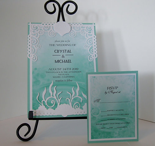 Ocean Blue Wedding / Event Invitation