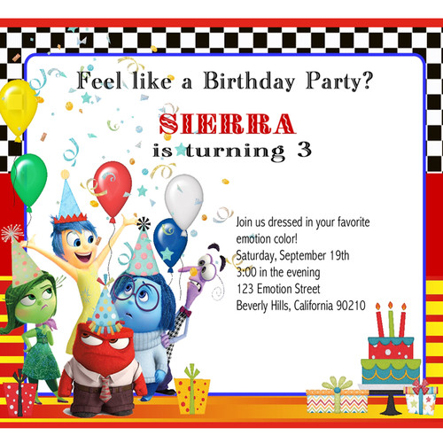 Childrens Birthday Parties EventsUnique Invitations By Cheryl - Birthday invitations inside out