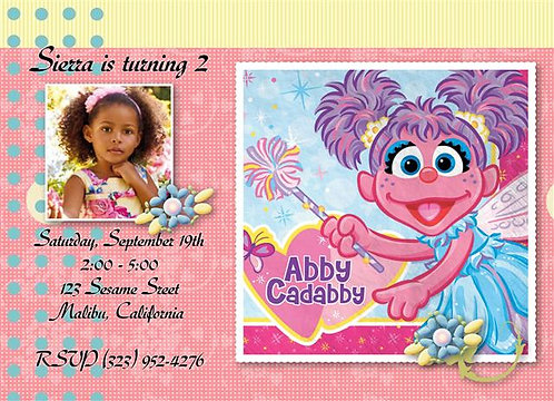 Abby Cadabby Birthday Party Invitation