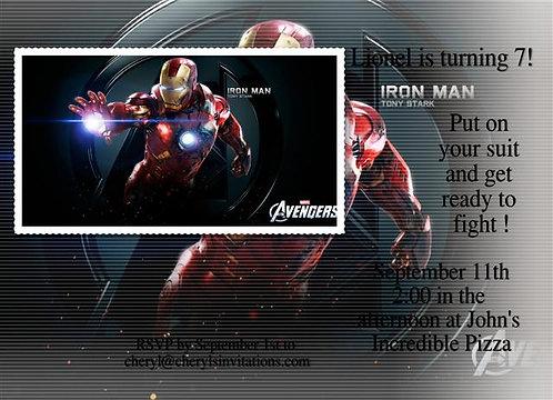 #2 Ironman Birthday Party Invitation
