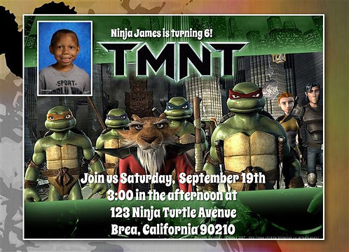 TMNT Birthday Party Invitation