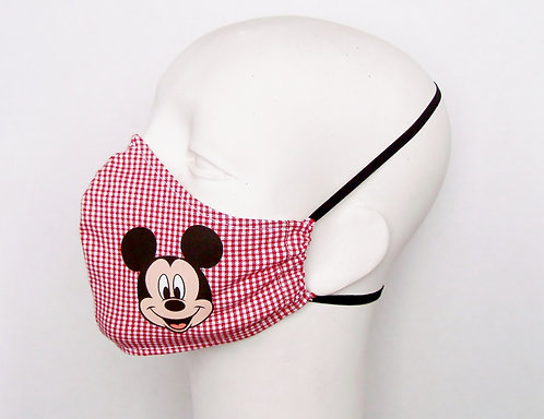 Mickey Mouse Contoured Face Mask with Filter Pocket