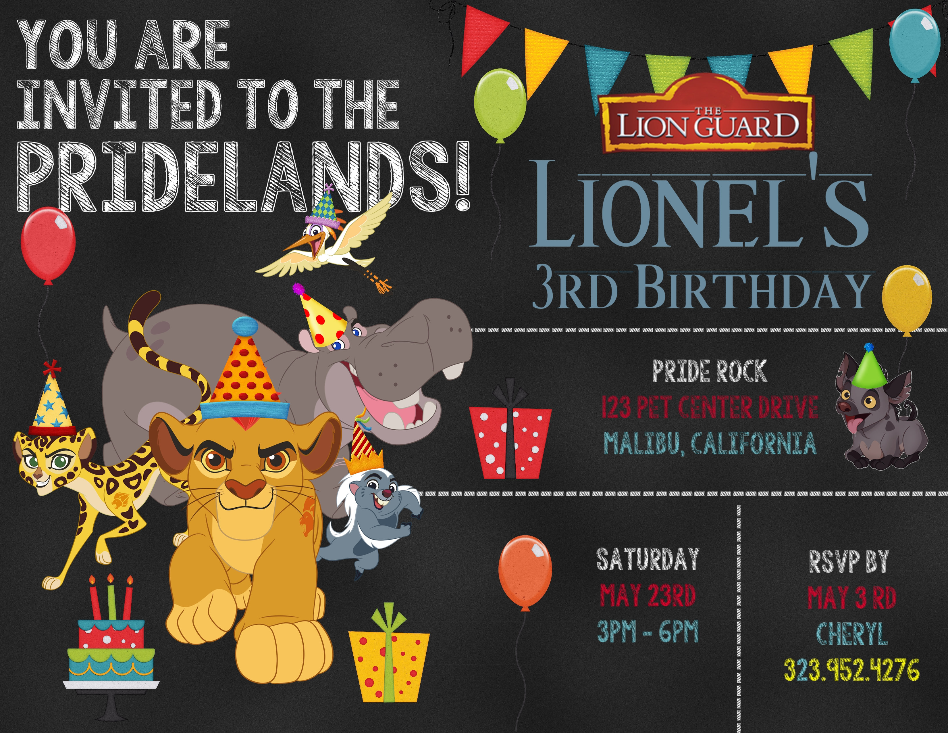 2 The Lion Guard Birthday Invitation Sold In Sets Of 10