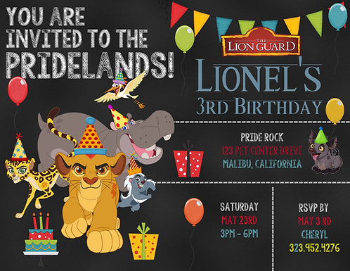 #2 The Lion Guard Birthday Invitation (sold in sets of 10)
