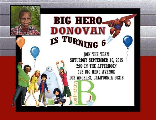 Big 6 Boy Birthday Party Invitation