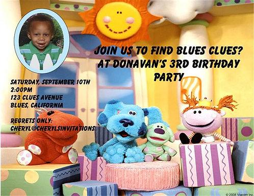 Blues Clue Birthday Party Invitation