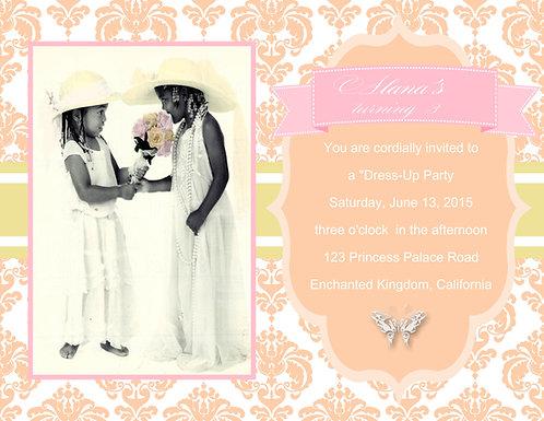 Dress up Tea Birthday Party Invitations
