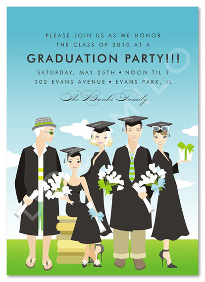 Glamour Graduating Class Party and Event Invitation