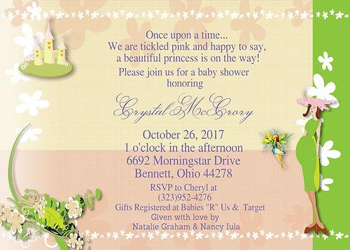 Fairy Princess Baby Shower Invitation