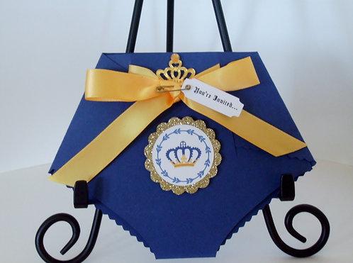Little Prince Royal Diaper Invitation