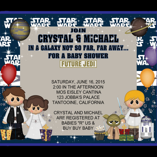 Star Wars Baby Shower Invitation