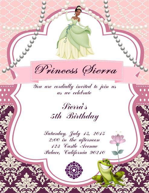 #2 Princess Tiana Birthday Party Invitation