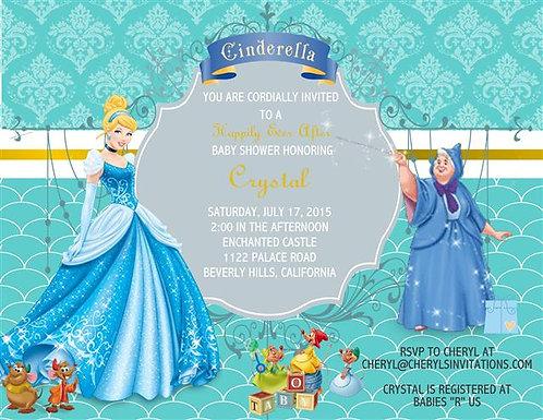Cinderella Boy Baby Shower Invitation