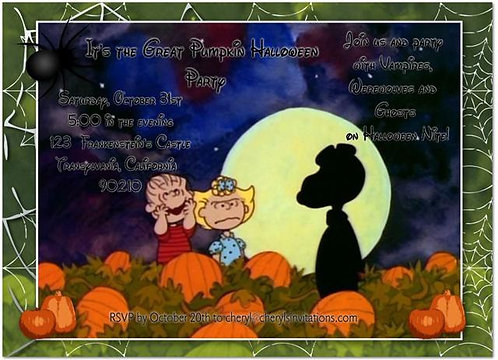 #2 It's the Great Pumpkin Costume Halloween Party and  Event Invitat
