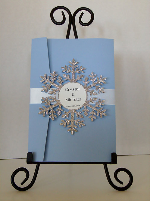 Frozen Winter Pocketfold Invitation