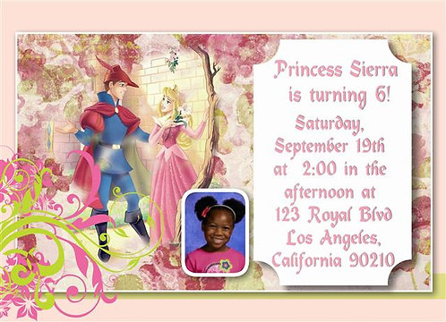 Princess Aurora Birthday Party Invitation