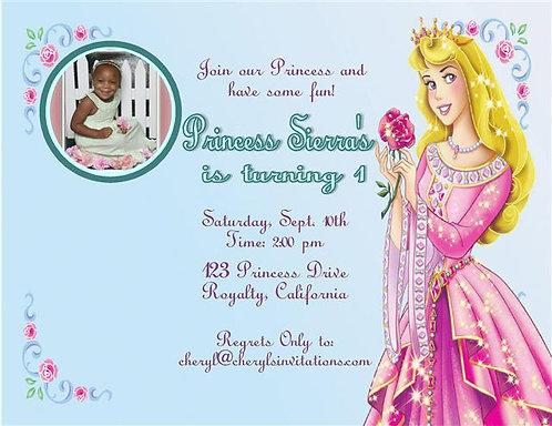 Sleeping Beauty Birthday Party Invitation