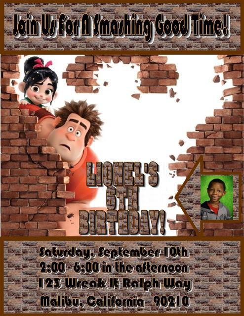 Wreak it Ralph Birthday Party Invitation