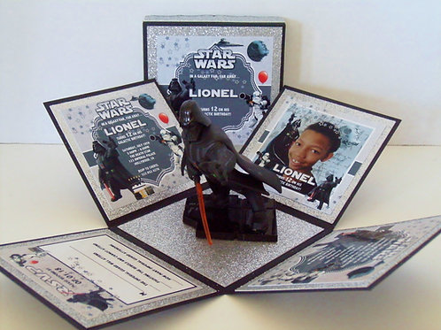 Darth Vader Custom Exploding Box Event Invitation