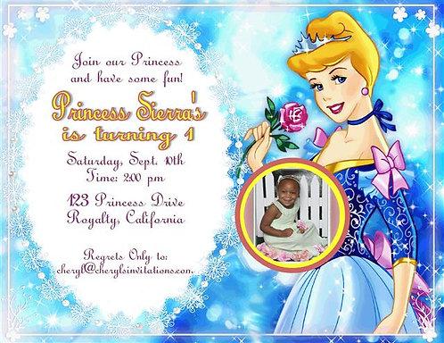#2 Princess Cinderella Birthday Party Invitation