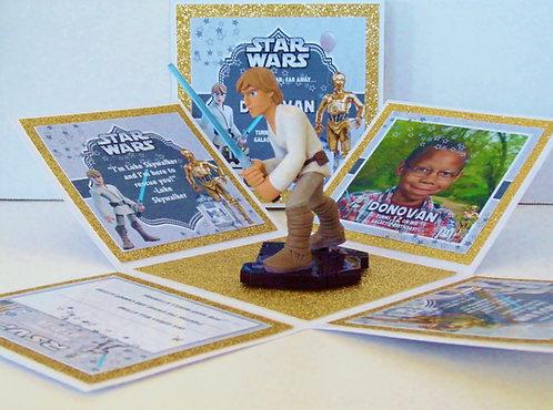 Luke Skywalker Custom Exploding Box Event Invitation
