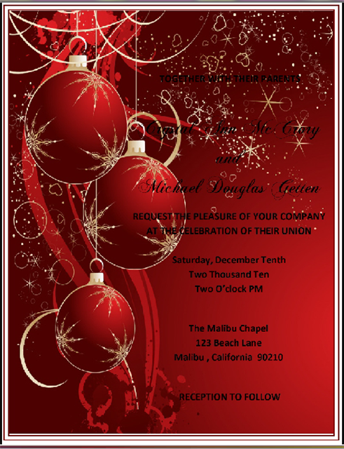 Holiday Red Party and  Event Invitation